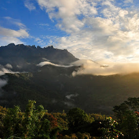 The Majestic Mount Kinabalu by Maverick Anat - Landscapes Mountains & Hills