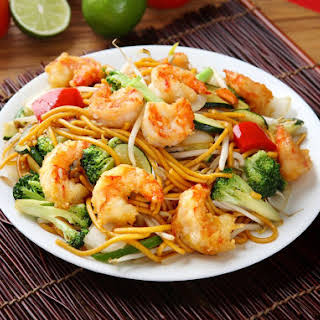 Shrimp With Garlic Noodles for Two.