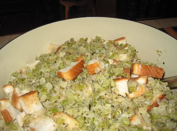 I usually make my stuffing in the morning or the day before I'm using...
