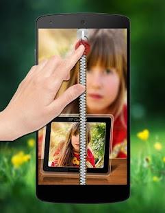 Pic in Pic Zipper Lock Screen screenshot