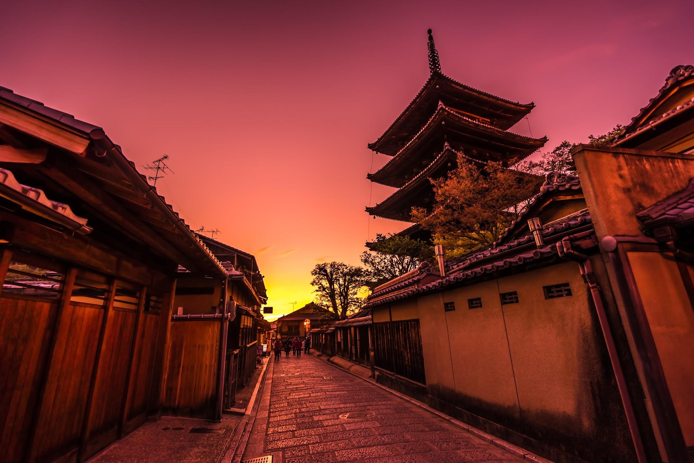 京都 八坂の塔 夕景5