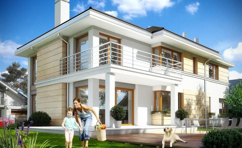 Piętrowy dom może być bardzo funkcjonalny