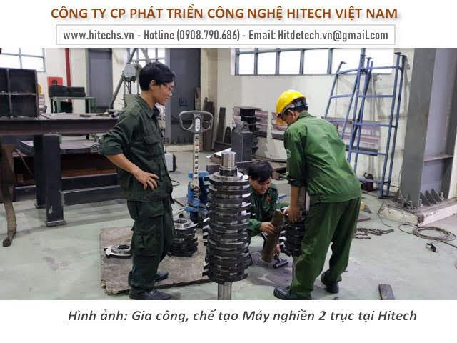 Dao nghiền 2 trục, dao cắt rác, dao nghiền được kim loại, sản xuất hitech Việt nam