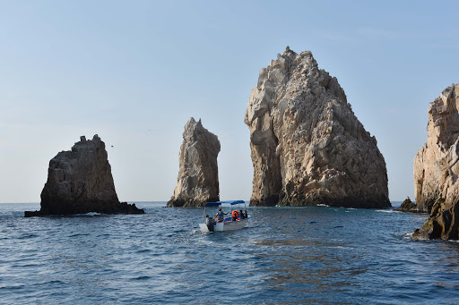 exploring-rock-formations-by-boat.jpg - Rock formations off of Lands End at the southernmost point in Cabo San Lucas.