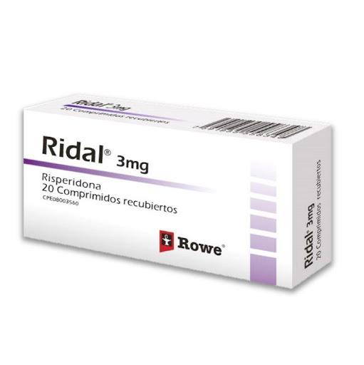 Risperidona Ridal 3 Mg X 20 Comprimidos Roemmers 3 MG X 20 COMPRIMIDOS