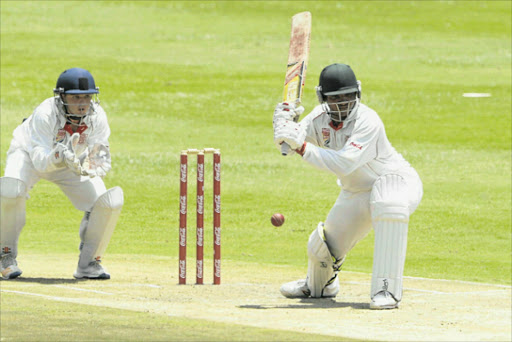 DISAPPOINTING PERFORMANCE: Border's Siphamandla Krweqe in action during the match between Border and Gauteng at the Coca-Cola Khaya Majola Week at Wanderers Stadium in Johannesburg yesterday. Border lost to Gauteng by nine wickets Picture: GALLO IMAGES