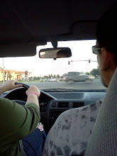 Photo: Almost home. Isabella liked snapping photos in the car, she even took video of us!