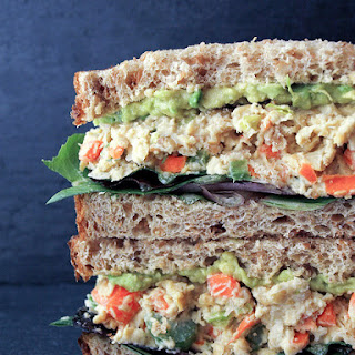 Mashed Chickpeas Salad Sandwich.