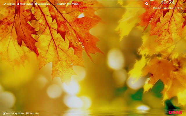 Fall Wallpaper for New Tab
