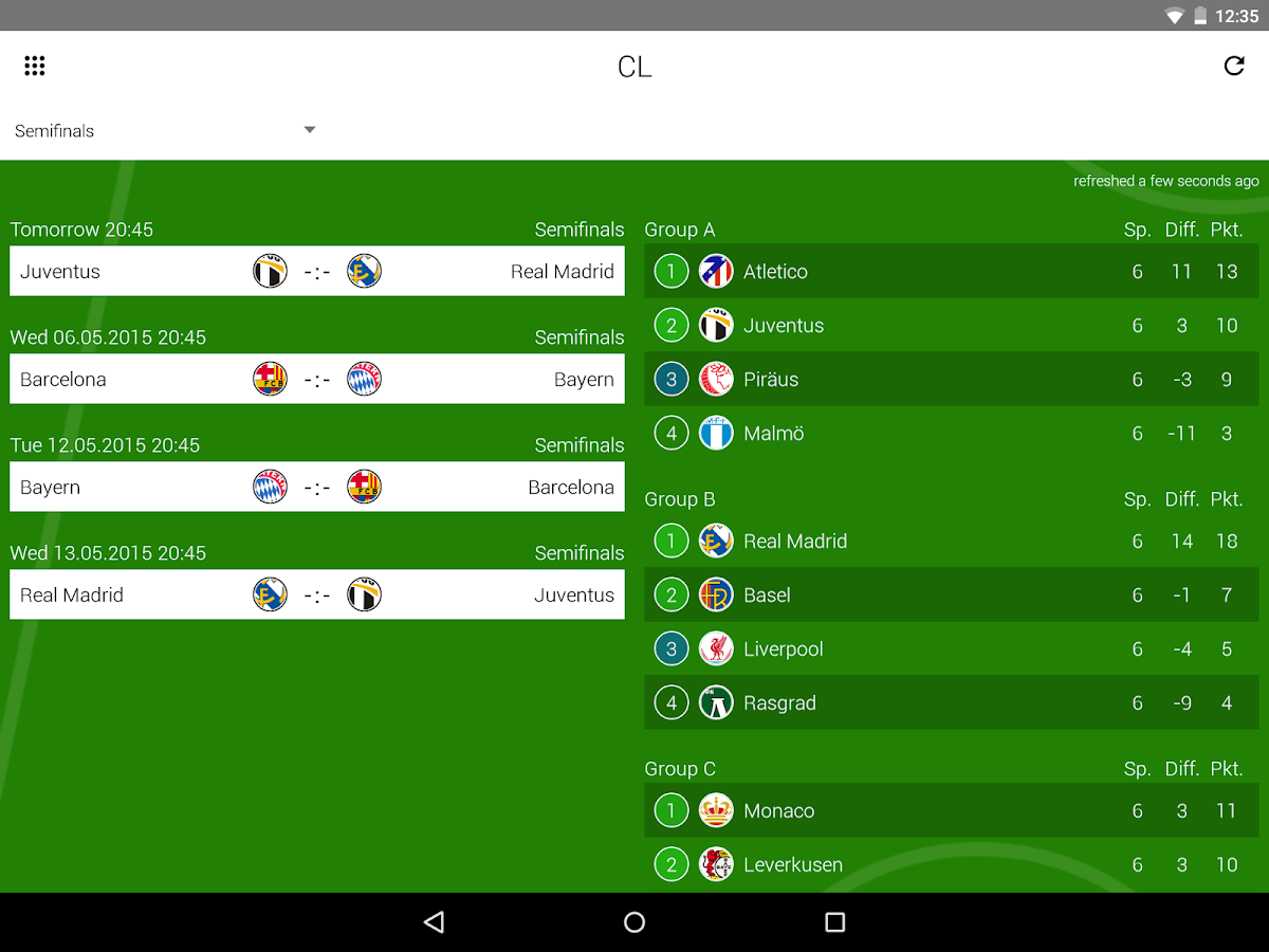 GoalAlert German Bundesliga - screenshot