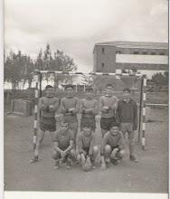 Photo: Avelino, Arango, Bandera, Pepe Sánchez, Martín,  Cuervas Mons, ?, Vilda.
