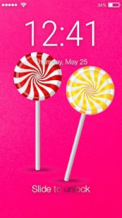 Lollipop Candy Lock Screen - náhled