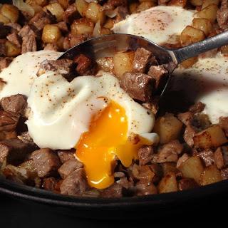 Steak and Eggs Hash.