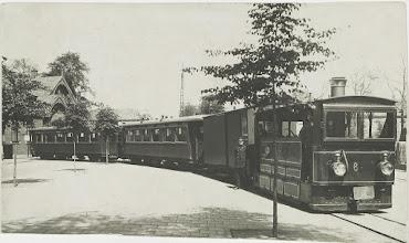 Photo: 1929 Tramstel op Haagweg met rijtuigen AB2 en AB7 van ZNSM