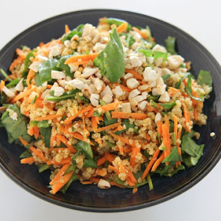 Carrot, Spinach and Quinoa Salad
