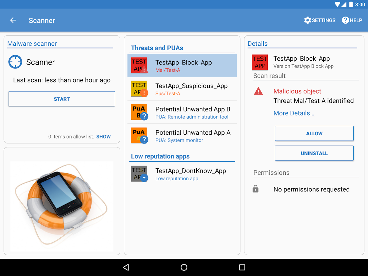 Sophos Mobile Security- screenshot