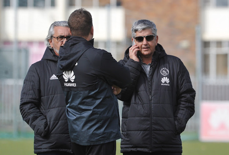 Ajax Cape Town CEO Ari Efstathiou (R) has some big decisions to make.