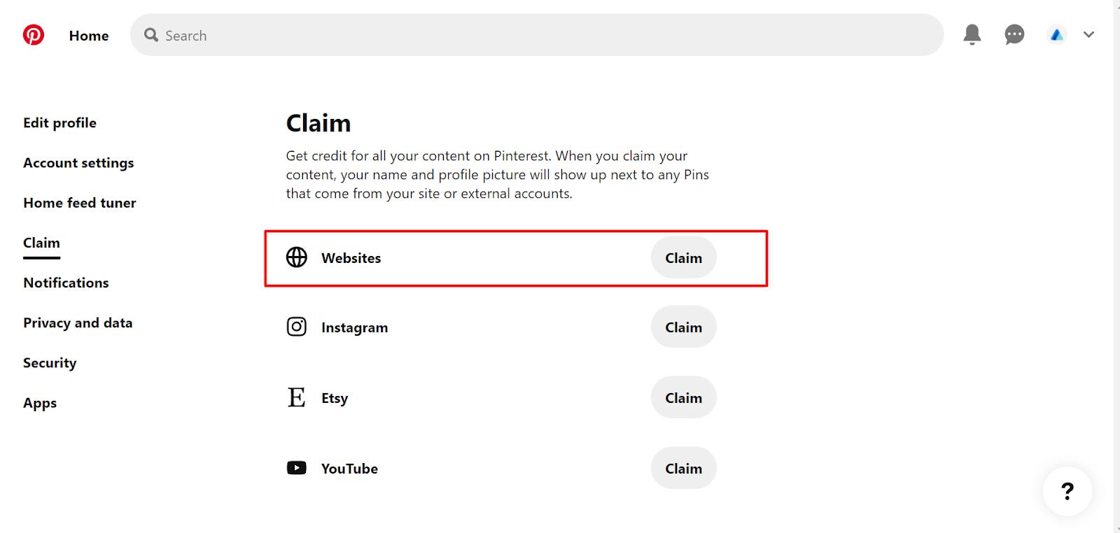 Claim Websites