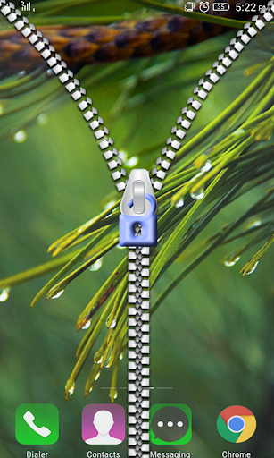 Transparent Zipper Lock Screen