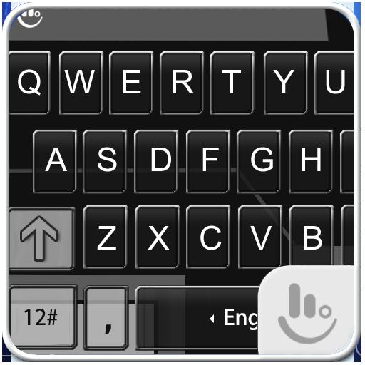 Black Grey Glass Keyboard Skin 個人化 App LOGO-硬是要APP