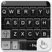 Black Grey Glass Keyboard Skin