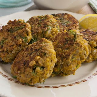 Smashed Curried Chickpea Cakes.
