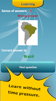 Screenshot of Countries Location Maps Quiz