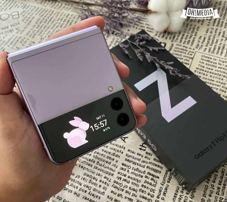 Samsung Galaxy Z Flip3 5G skrin 1.9 inci