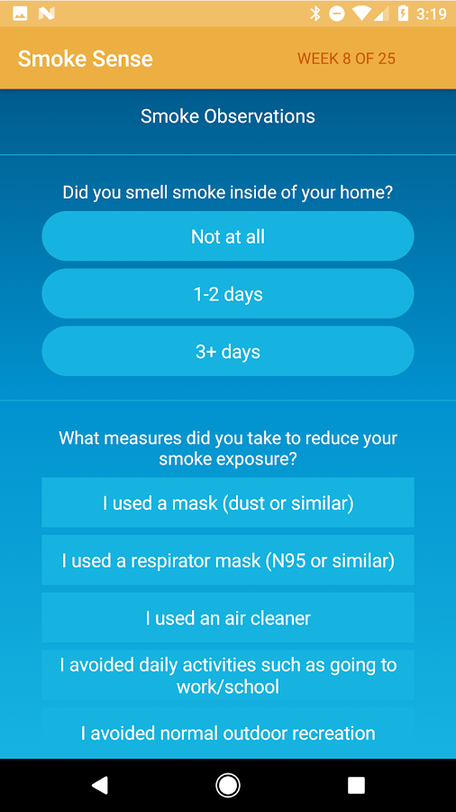 EPA's SmokeSense- screenshot