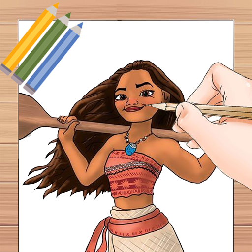 Drawing Moana lessons for PC