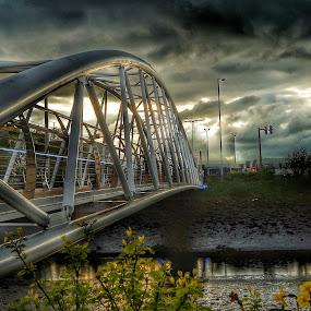 Victoria bridge by Danny Charge - City,  Street & Park  City Parks ( hdr, belfast, bridge, bridges, water )