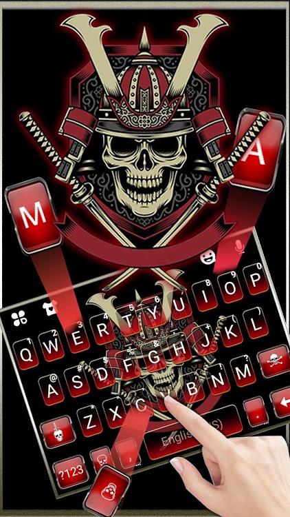Samurai Swords Skull Keyboard Theme – (Android Aplikace