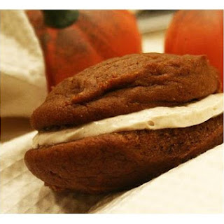 Pumpkin Whoopie Pies With Maple Cinamon Frosting