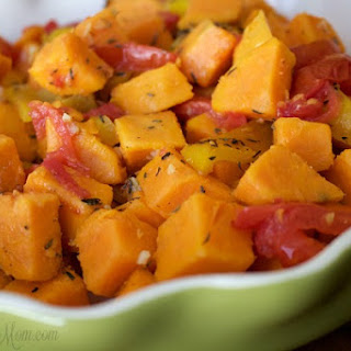 Roasted Pepper and Tomato Sweet Potato Salad