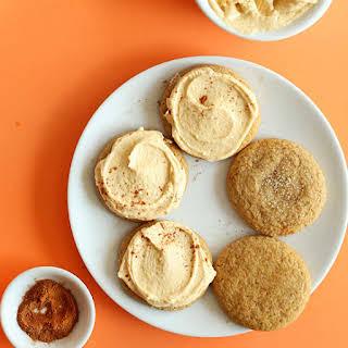 Vegan Pumpkin Sugar Cookies.