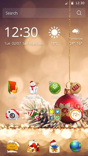 3D Рождественская тема скачать на планшет Андроид