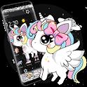 Glitter Galaxy Cute Rainbow Unicorn Theme icon