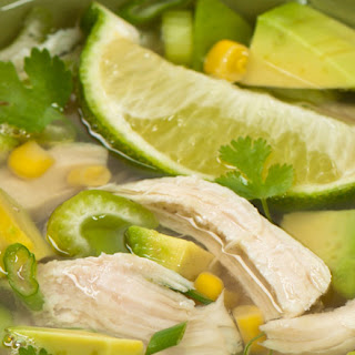 Avocado Lime Rotisserie Chicken Soup.