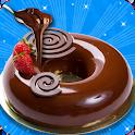 Strawberry Chocolate Mirror Glaze Cake! DIY Chef icon