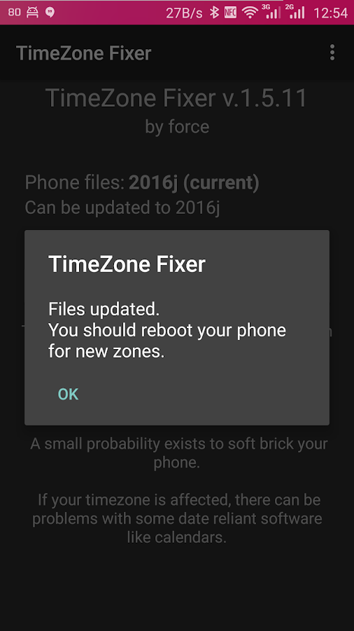 TimeZone Fixer (ROOT)- screenshot