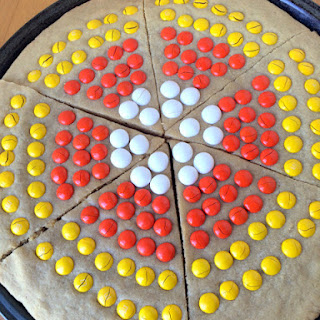 Giant M&M Candy Corn Cookie