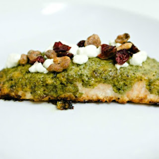 Cranberry Pesto Salmon with Goat Cheese