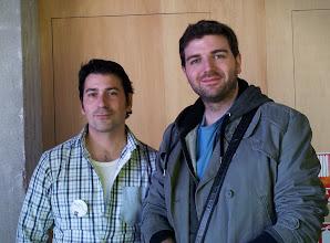 Photo: Ramón Miranda ( creator of GimpPaintStudio preset pack and FLOSS artist )  and me
