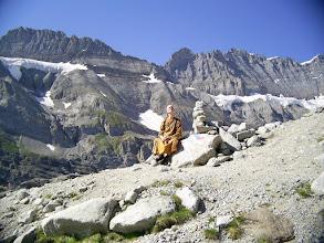 Photo: At Kanderfirn glacier 2400 meters high