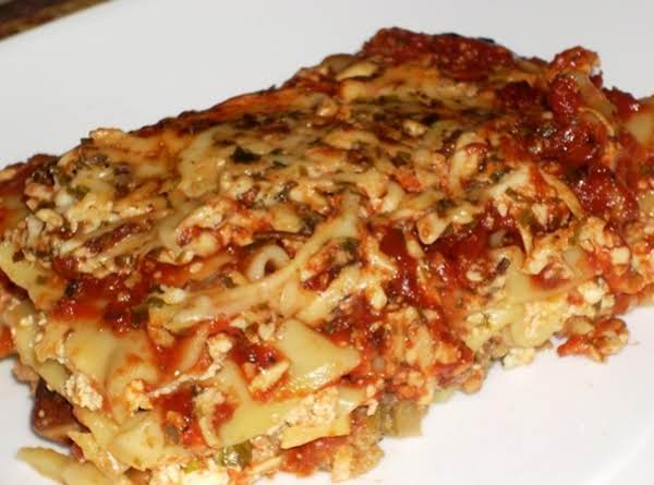Vegan Lasagna With Tofu Ricotta Cheese Recipe