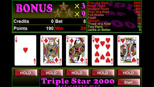 Triple Star 2000 - Videopoker