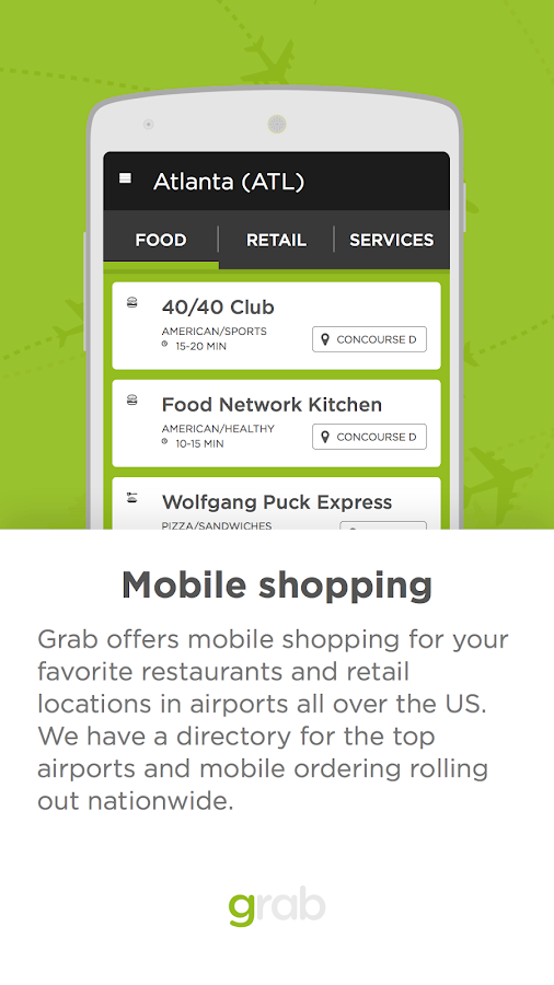 Grab - Airport Mobile Ordering- screenshot