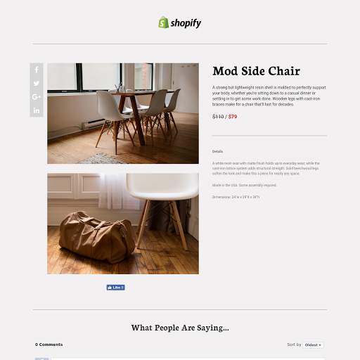 Shopify One-Item Landing Page