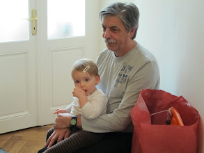 Photo: Birthday girl with grand dad.