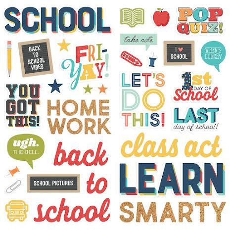 Simple Stories Foam Stickers 45/Pkg - School Life